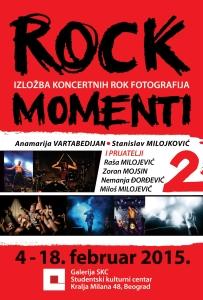 Rock momenti - SKC Beograd, plakat