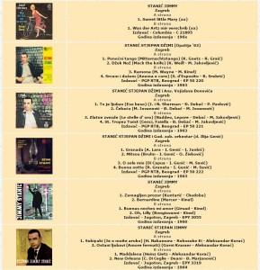 Stjepan Jimmy Stanić - Djelimična diskografija (male ploče)