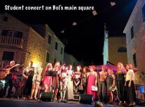Nastup polaznika Jazz seminara održan u mjestu Bol na Braču.