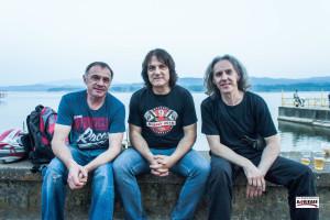 Bend The Trio (Karlovac) prije nastupa na stageu motorijade na  jezeru Modrac, 28.05.2016. godine - Foto: Dragutin Matošević