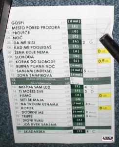 Palma - Galija - Set List - 31-03-2016 (dev) (1 of 1)
