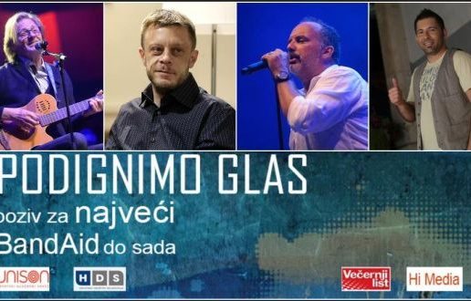 Hrvatski BandAid – Svi se mogu priključiti akciji Podignimo glas
